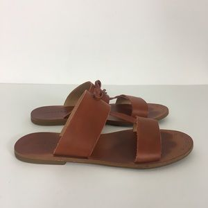 Lucky Brand Tan Leather Anlissa Sandals
